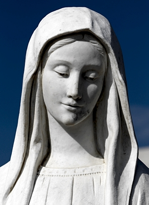 A statue of Mary is seen in 2011 outside St. James Church in Medjugorje, Bosnia-Herzegovina. CNS/Paul Haring