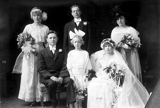 The first couple to get married at the Cathedral of St. Paul?were Adolph Schmit and Daisey Rettinger. The wedding took place April 14, 1915.  Photo courtesy the Cathedral of St. Paul