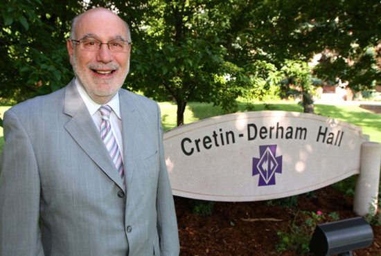 Dick Engler is retiring as president of Cretin-Derham Hall High School in St. Paul June 30. Dave Hrbacek/The Catholic Spirit