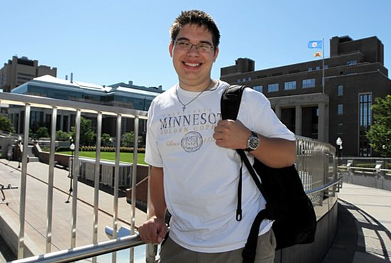 Lucas Kramer is one semester away from graduating from the University of Minnesota with a degree in computer science. The 15-year-old from St. Patrick in Oak Grove began taking classes at the university when he was 11. Dave Hrbacek/The Catholic Spirit