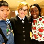 Navy servicewoman surprises siblings with visit to their school