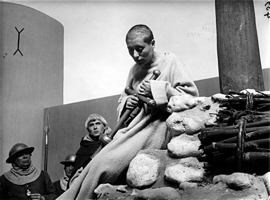 "A scene from ""The Passion of Joan of Arc,"" an acclaimed 1928 silent film based on the record of the saint's 1431 trial in Rouen, France. The Oratorio Society of Minnesota will pair the film with music for productions at the Cathedral of St. Paul and the Basilica of St. Mary. Public domain"