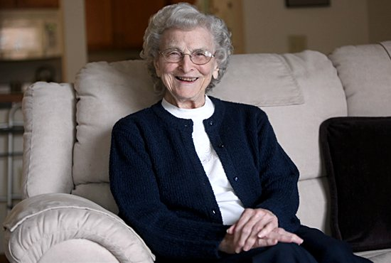 """Sister Mary Madonna Ashton, 92, a Sister of St. Joseph of Carondelet, is one of 16 to receive the 2016 National Women's History Month award """"Working to Form a More Perfect Union: Honoring Women in Public Service and Government."""" Dave Hrbacek/The Catholic Spirit"""