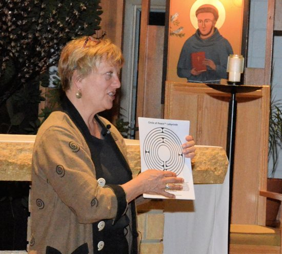 Labyrinth designer Lisa Moriarty presents on labyrinths at Franciscan Retreats and Spirituality Center April 20. Courtesy Brother Bob Roddy