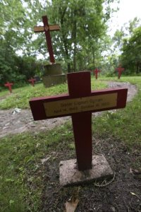A cemetery where Ursuline Sisters are buried sits on the Villa Maria property. Dave Hrbacek/The Catholic Spirit