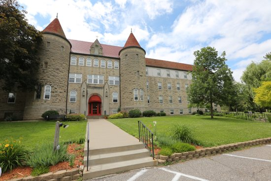 Marian Hall, the main building at Villa Maria Retreat and Conference Center, which the Ursuline Sisters are selling after having the Old Frontenac property for more than a century. Dave Hrbacek/The Catholic Spirit