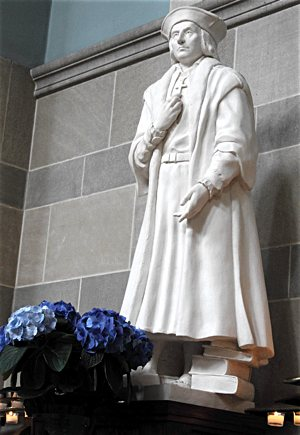 This statue of St. Thomas More is located in the church of St. Thomas More in St. Paul. Courtesy St. Thomas More parish