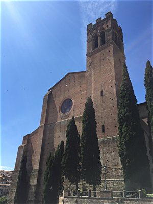 "Pilgrims on the ""WINE & Shrine"" in June toured Siena, Italy, including the Basilica of San Domenico, where the relics of St. Catherine of Siena are housed. Courtesy Kelly Wahlquist /Women In the New Evangelization"