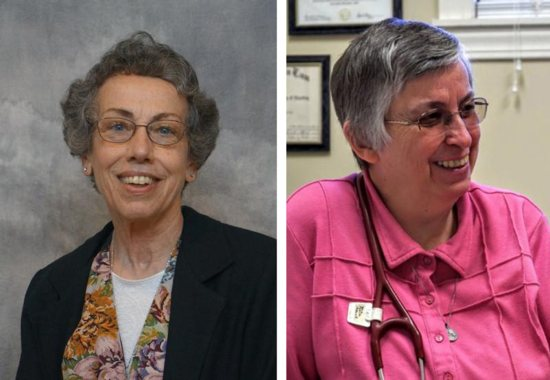 Sister Margaret Held, 68, a member of the School Sisters of St. Francis in Milwaukee, and Sister Paula Merrill, 68, a member of the Sisters of Charity of Nazareth in Kentucky, are pictured in undated photos. The two women religious were found stabbed to death Aug. 25 in their Durant, Mississippi, home, police said. CNS photo/School Sisters of St. Francis and Sisters of Charity of Nazareth