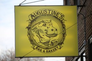 Augustine's Bar and Bakery sign on Selby Avenue in St. Paul. Dave Hrbacek/The Catholic Spirit