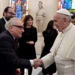 Pope meets Martin Scorsese after director screens 'Silence' for Jesuits