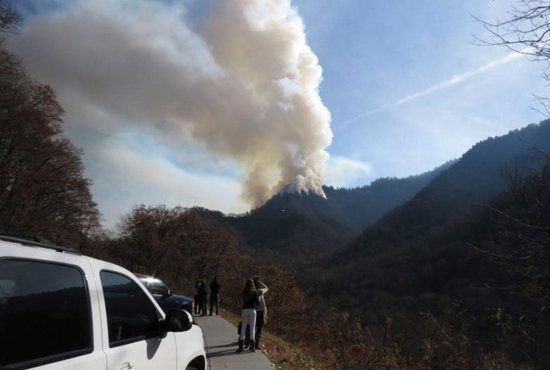 Catholic parishioners in the Diocese of Knoxville are among those who have lost homes and businesses in the wildfires that ravaged tourist areas in the Great Smoky Mountains region Nov. 29, said Bishop Richard F. Stika of Knoxville.
