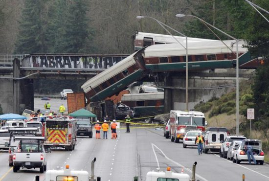 Amtrak train 501 derailed