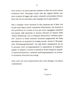 Pope Benedict letter
