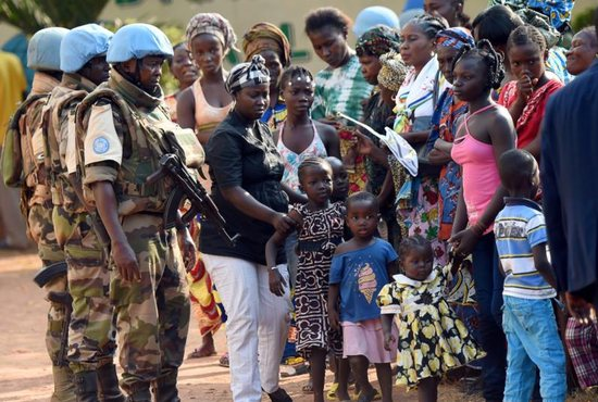 U.N. peacekeeping troops