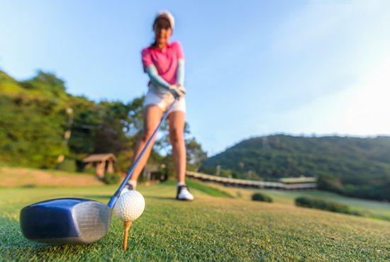 Golf swing sweet spot