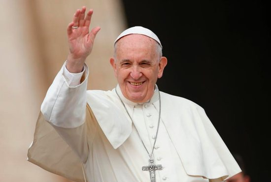 Pope Francis talks about baptism at Wednesday audience