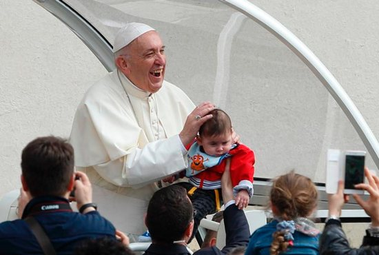 Pope Francis talks about naming a child at baptism