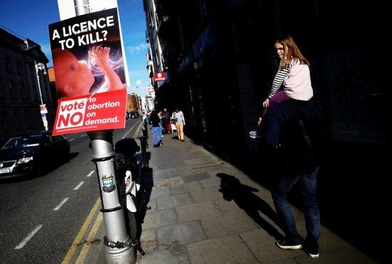 Ireland abortion referendum sign