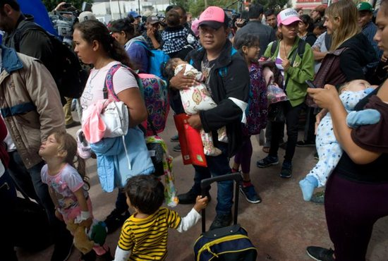 Central American migrants from 'caravan' have entered US