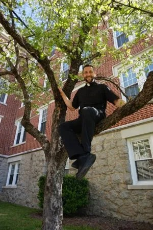 "Father Stephen Gadberry tried out for the next season of the NBC reality show ""American Ninja Warrior."""