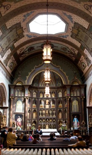 St. Anthony's Chapel in Pittsburgh, which houses more than 5,000 holy relics