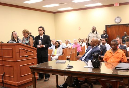 The family of Sister Margaret Held, a School Sister of St. Francis, who was murdered in 2016, give their statement during the June 21 plea and sentencing hearing for her killer, Rodney Earl Sanders, in Lexington