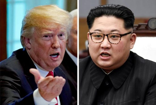 U.S. President Donald Trump and North Korea leader Kim Jong Un. The two were to meet on Singapore's Sentosa Island for a historic summit