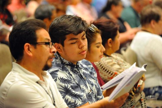 Attendees of the 2018 National Diaconate Congress are seen July 22 in New Orleans. Nearly 3,000 people attended the July 22-26 gathering, including 1,300 permanent deacons, their wives and children.