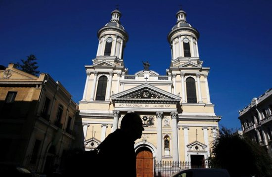 The St. Ignatius of Loyola Church of the Jesuit Fathers is seen in Santiago, Chile