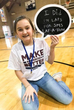 Anne Fenton Massie participates in the Jan. 30 Lap-a-thon at St. Mary Help of Christians School in Aiken, S.C.