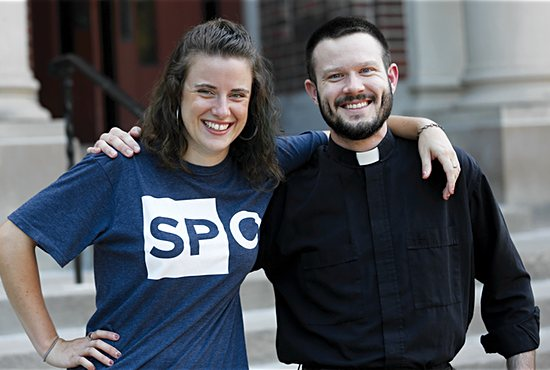 Aimee Ellis and her brother, Father Joah Ellis, are both engaged in evangelization outreach.