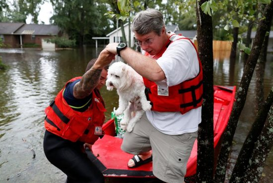 Tropical Storm Florence in Lumberton, N.C. The storm, downgraded to a tropical depression, was poised to affect more than 10 million the week of Sept.