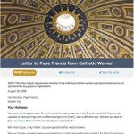 Women's, men's letters ask pope for answers on abuse crisis