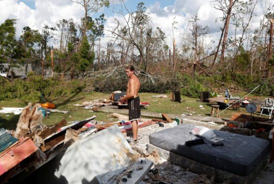 The hurricane killed at least 16 people in Florida, most of them in the coastal county that took a direct hit from the storm, state emergency authorities said. That's in addition to at least 10 deaths elsewhere across the South.