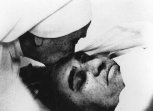 The archbishop was taken to the hospital with bullet wounds in the chest after being shot by four unidentified gunmen as he celebrated Mass in a chapel March 24, 1980.