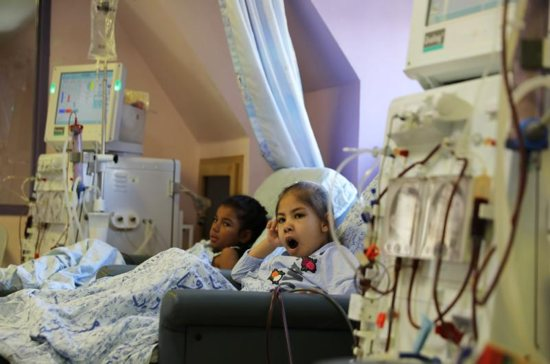 """Palestinian children receiving treatment are seen in early September at Augusta Victoria Hospital in East Jerusalem. U.S. Christian leaders expressed """"grave concern"""" about the Trump administration's decision to stop financial assistance to six East Jerusalem hospitals."""