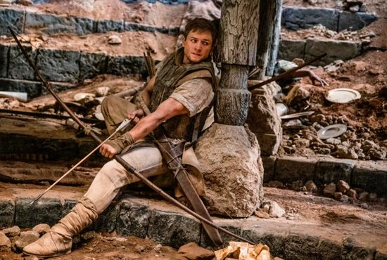 "Taron Egerton stars in a scene from the movie ""Robin Hood."" The Catholic News Service classification is O -- morally offensive. The Motion Picture Association of America rating is PG-13 -- parents strongly cautioned. Some material may be inappropriate for children under 13."