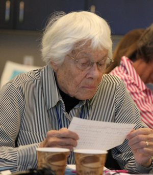 Sister Margaret Nacke, 84, a member of the Sisters of St. Joseph of Concordia, Kan., attends an Oct. 26 meeting of women religious from throughout the Western Hemisphere about human trafficking.