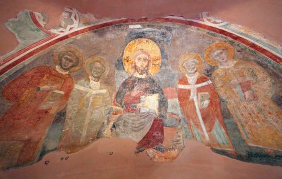 A fresco of Christ in Majesty, parts of it believed to date to the ninth century, is seen in the apse of the Church of San Pellegrino at the Vatican. As we journey through Advent each year we encounter a threefold sense of Christ's coming: in history, in mystery and in majesty.