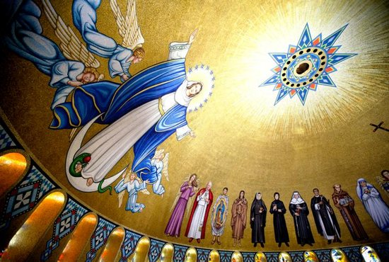 Mosaic tiles depicting the Immaculate Conception and various saints are seen in the Trinity Dome at the Basilica of the National Shrine of the Immaculate Conception in Washington. The feast of the Immaculate Conception is celebrated Dec. 8.
