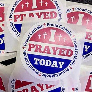 """I Voted"" stickers are seen Nov. 6 in Baton Rouge, La."