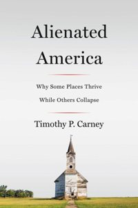 "This is the book cover of ""Alienated America."" It is written by Tim Carney, a reporter at the Washington Examiner."