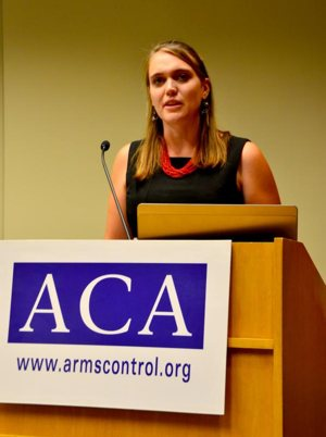 Kelsey Davenport, director of nonproliferation policy at the Arms Control Association, is seen in this undated photo.