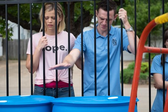 """Emma Elle Roberts and Jared Lotz star in a scene from scene from the movie """"Unplanned,"""" the story of Abby Johnson, a former Planned Parenthood clinic director, and her decision to join the pro-life movement. The Catholic News Service classification is A-III -- adults. The Motion Picture Association of America rating is R -- restricted. Under 17 requires accompanying parent or adult guardian."""