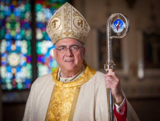 Archbishop Joseph F. Naumann, who heads the Archdiocese of Kansas City, Kan., is seen in this Aug. 31, 2015, photo. The archbishop also is chairman of the U.S. bishops' Committee on Pro-Life Activities.
