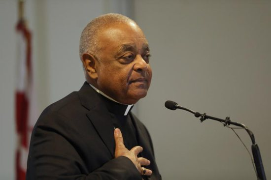Archbishop Wilton D. Gregory speaks during a news conference in the pastoral center at the Archdiocese of Washington April 4, 2019, after Pope Francis named him to head the archdiocese. He had headed the Atlanta Archdiocese since 2005.