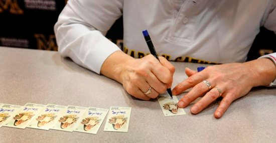 "Dominican Sister Mary Jo Sobieck, a theology teacher at Marian Catholic High School in Chicago, kicked off baseball season by debuting her very own 2019 Topps Allen and Ginter Baseball Trading Card April 8, 2019. Known as the ""Curveball Queen,"" Sister Mary Jo signed 260 baseball cards that will be inserted into random Topps trading card packs."