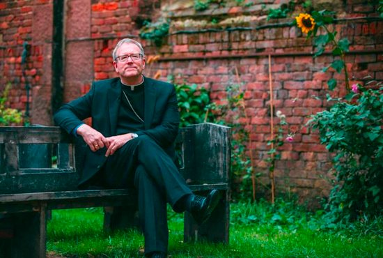 """Los Angeles Auxiliary Bishop Robert E. Barron has written a new book titled """"Letter to a Suffering Church"""" on the abuse crisis. The bishop, seen in an undated photo, says Catholics are understandably """"demoralized and scandalized"""" by the abuse crisis but he urges them to """"stay and fight for the body of Christ."""""""