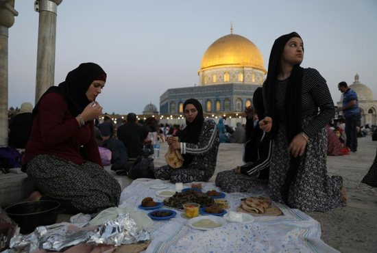Muslims gather at The Noble Sanctuary in Jerusalem's Old City May 16, 2019. U.S. Cardinal Raymond L. Burke said in Rome May 17 that limiting the number of Muslims allowed to immigrate to traditionally Christian nations would be a prudent decision on the part of politicians.